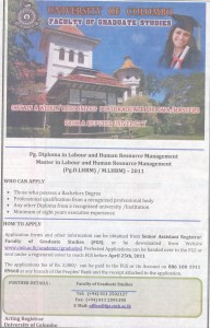 Master or Pg Diploma in labour and human Resource Management