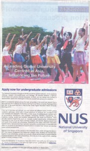 National University of Singapore Admissions