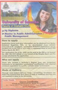 Postgraduate diploma in Public Administration