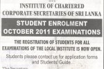 Institute of Chartered Corporate Secretaries of Sri Lanka calls student enrollment