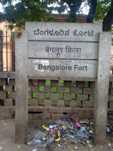 Bangalore Fort Indication Board