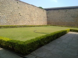 greenly inside the Bangalore Fort