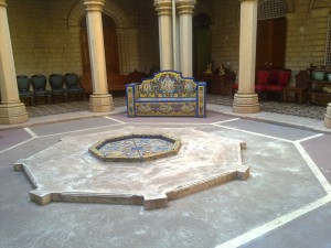 Bangalore Palace king's bath room