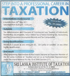 Intermediate course of Taxation