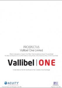 Vallibel One IPO