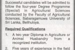 BSc Agricultural Sciences & Management by Sabaragamuwa University
