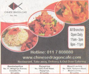 Chinese Dragon Café Home Delivery in Srilankaq