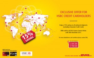 DHL Exclusive offer for HSBC Credit Cardholders in Worldwide