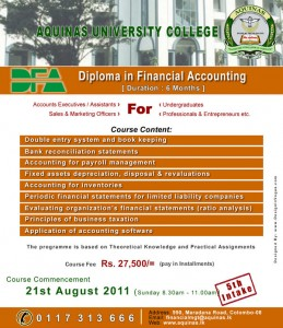 Diploma in Financial Accounting by Aquinas University College