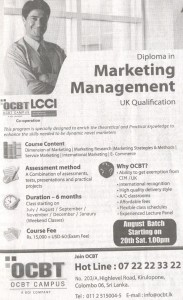 Diploma in Marketing Management by OCBT Campus
