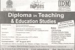 E – Diploma in Teaching & Education Studies by IDM