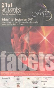 Facets Srilanka 2011 – Gem and Jewellery Show