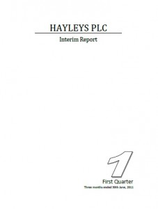 Hayleys PLC Interim Report for 30th June 2011