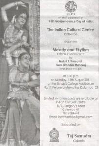 ICCR Melody and Rhythm Kathak Performance