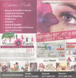 Women & Family Life Style Fair 2011 in Colombo 2nd Sep to 4th Sep 2011