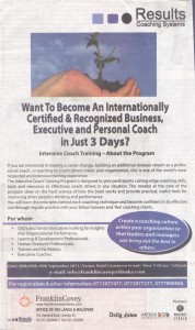 Intensive Coach Training Programme by Franklin Covey