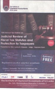 Judicial Review of Fiscal tax Statues and Protection to Taxpayers