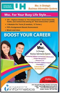 MSc in Strategic Business Information Systems from University of Hertfordshire