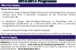 Master of Philosophy in Clinical Psychology – 2012-2014 by University of Colombo