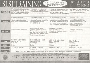 Srilanka Standard Institute Training on Quality and Productivity