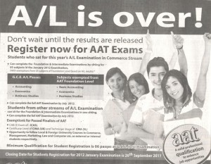 AAT for Registration for January 2012 Exams