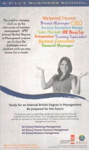 BA (Hons) Degree from APIIT Business School