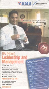 BA (Hons) in Leadership and Management Final Year Degree by BMS