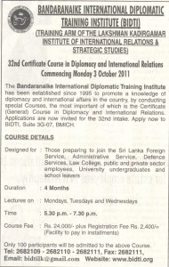 Certificate Course in Diplomacy and International Relations by BIDTI