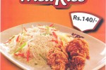 KFC Introduce Chicken Fried Rice for Rs.140.00