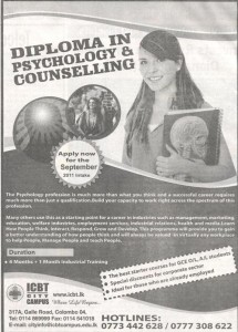 Diploma in Psychology & Counseling in Srilanka