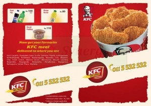 KFC Delivery Menu Pg2