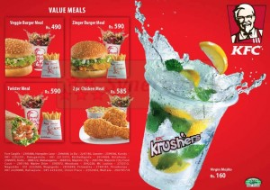 KFC Dine in Menu Pg 2