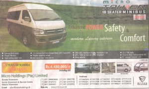 Micro Tourer 18 Seater Minibus @ Rs. 4,480,000.00