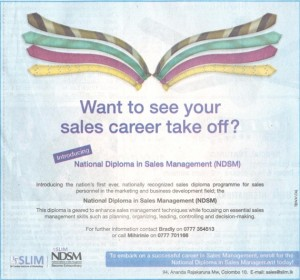 National Diploma in Sales Management (NDSM)