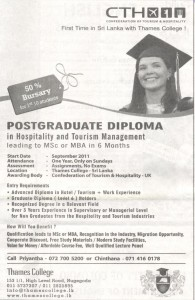 Postgraduate Diploma in Hospitality and Tourism Management by CTH