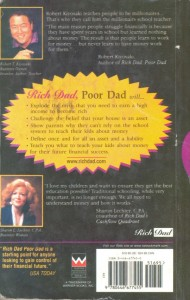 Rich Dad Poor Dad Book Back Veiw