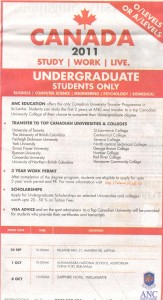 Study in Canada 2011 by ANC Education