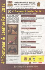 4th Footwear & Leather Fair 2012 in Srilanka