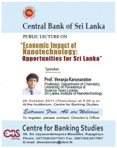 Economic Impact of Nanotechnology Opportunities for Srilanka