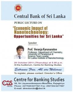 Economic Impact of Nanotechnology Opportunities for Srilanka