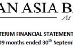 Pan Asia Bank PLC released Interim Statement for 30th September 2011