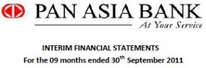 Pan Asia Bank PLC - 30th September 2011