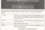Scholarships for Certificate Course in professional Skills Development in English