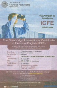 The Cambridge International Certificate in Financial English (ICFE) by ICASL