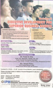 Workshop on Executive Development for Superior Business Results