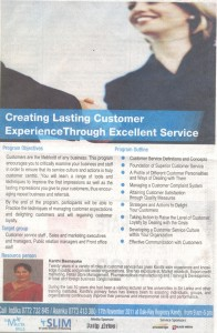 Creating Lasting Customer Experience through Excellent Service