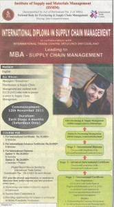 International Diploma in Supply Chain Management by Institute of Supply and Material management (ISMM)