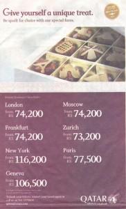 Qatar Airways Special Rates Valid till End November