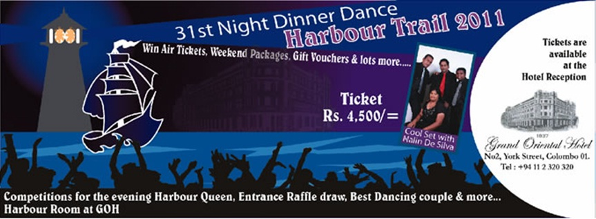 31st Night Dinner Dance At Grand Oriental Hotel Colombo