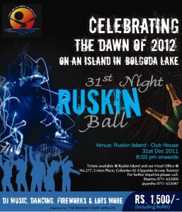 31st Night RUSKIN Ball celebration on an Island in Bolgoda Lake